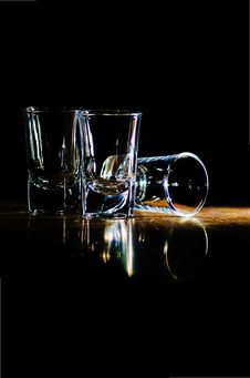 Free Glasses On The Bar Royalty Free Stock Photography - 23714197