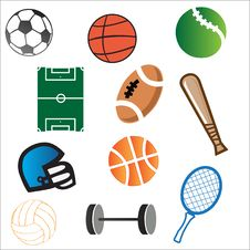Free Vector Sport Elements Royalty Free Stock Images - 23714629