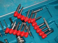 Screwdriver Bits Royalty Free Stock Image