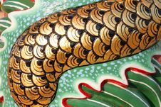 Free Chinese Style Scale Of Dragon On Wall Of Shrine Stock Photo - 23717880