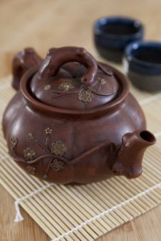 Free Rustic Asian Ceramic Teapot Royalty Free Stock Photo - 23718705