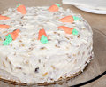 Free Carrot Nut Cake Stock Image - 23725021