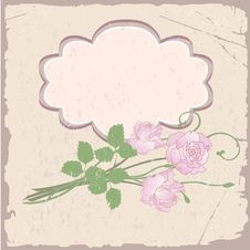 Free Romantic Vector Background With Roses Stock Images - 23722634