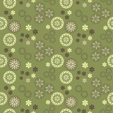 Free Seamless Vector Spring Pattern Royalty Free Stock Images - 23722659