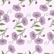 Free Elegant Seamless Pattern With Flowers Royalty Free Stock Image - 23722736