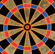 Free Texture Of The Dartboard Royalty Free Stock Image - 23722926