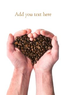 Free Coffee Heart Royalty Free Stock Photography - 23724727