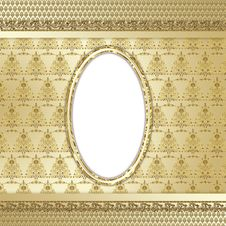 Free Gold Ornate Background Royalty Free Stock Photos - 23725328