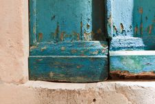 Free Blue Door Corner 2 Royalty Free Stock Photo - 23727005