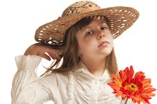 Free Girl With  Flower Stock Image - 23727611