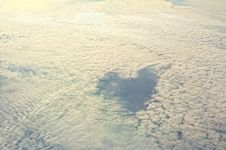 Free Heart In Clouds Royalty Free Stock Image - 23727916