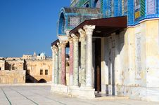 Dome Of Rock Entrance Stock Photo