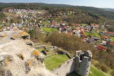 Free View On A Town And A Castle Ruin Stock Photo - 23729970