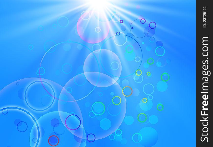 Sun with circles