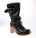 Free Black Leather Female Retro Boot Royalty Free Stock Photos - 23736838