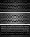 Free Set Metallic Perforated Sheet Royalty Free Stock Image - 23737006