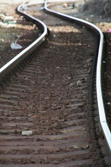 Free S-shaped Curvature On Railway Line Royalty Free Stock Photo - 23730845