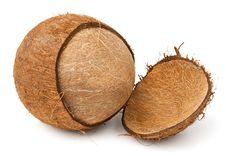 Cracked Coconut Royalty Free Stock Photo