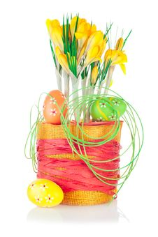 Free Spring Crocuses And Easter Decoration Stock Images - 23731084