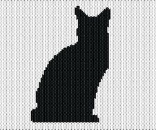 Free Silhouette Of Cat From Knitted Texture Royalty Free Stock Photos - 23731838