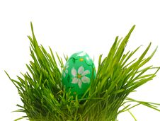 Free Easter Eggs In Green Grass Stock Image - 23732481