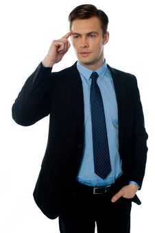 Free Young Buisnessman Cracking Master Idea Stock Photos - 23732563