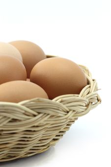 Free Eggs In One Basket Stock Photography - 23733232