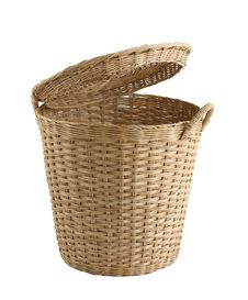 Rattan Basket Stock Image
