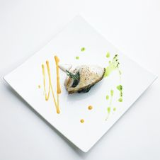 Grilled Snow Fish Steak Royalty Free Stock Photo