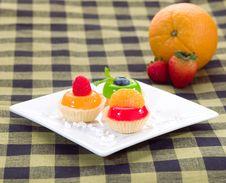 Free Sweet Jelly Cupcake Stock Image - 23733621