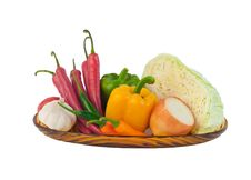 Free Variety Vegetables On Dish Royalty Free Stock Images - 23734159