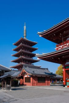Free Asakusa Temple Tokyo Japan Royalty Free Stock Photography - 23734307