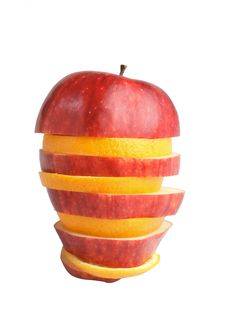 Free Apple And Orange Stock Photo - 23734460