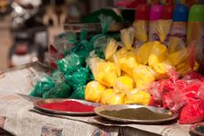 Color Full Colors Of Holi Royalty Free Stock Photography
