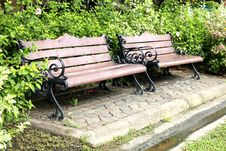 Free Two Armchair In The Garden Royalty Free Stock Photography - 23736737