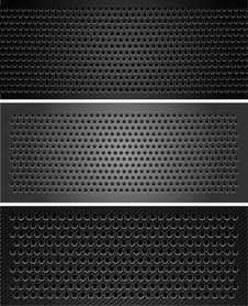 Free Set Metallic Perforated Sheet Royalty Free Stock Image - 23737006