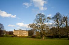 English Country House In A Park Stock Image