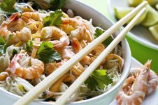 Shrimp And Noodles Royalty Free Stock Photography