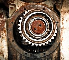 Old Machine Details Royalty Free Stock Images