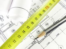Free House Plan Royalty Free Stock Images - 23745879