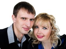 Free Closeup Portrait Of A Happy Young Couple Royalty Free Stock Photography - 23746047