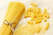 Free Pasta: Noodle, Spaghetti, Tortiglioni Royalty Free Stock Photos - 23746368