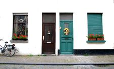 Colourful Doors And Windows Stock Images
