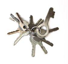Free Keychain On White Background Royalty Free Stock Photo - 23759815
