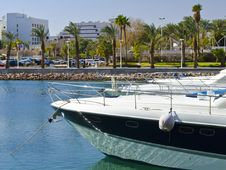 Free Moored Yachts In Marina Of Eilat, Israel Stock Photo - 23762510