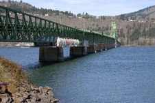 Free Long Bridge Of Hood River Oregon. Stock Photos - 23767473