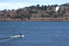 Free Wind Surfing On The Columbia River, Hood River OR. Stock Images - 23767484