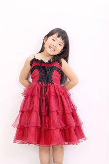 A Little Asian Girl Royalty Free Stock Image