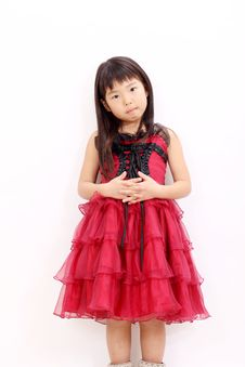 A Little Asian Girl Royalty Free Stock Photography