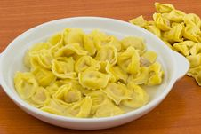 Free Tortellini With Ham Broth Royalty Free Stock Image - 23768356